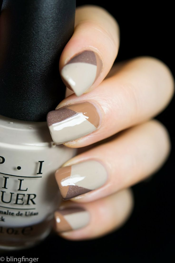 i'm neutral | Neutral polish nail art