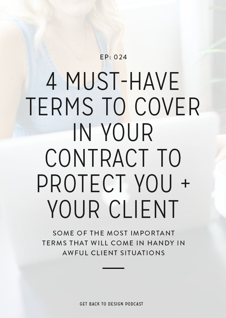 If you're a creative and you work directly with people, then you need a contract. Even if you're just covering yourself and making sure that you get paid for those all of those hours that you put into that project. If you've ever had a nightmare client or had to chase down a late payment,Continue Reading