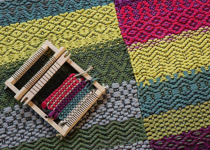 Carpet Karkki, design Annukka Mikkola, 2014, weaving Tea Rahkamaa - Mattoja monin tavoin - Annukka Mikkola, Tea Rahkamaa, Ritva Kurittu-Kalaja, Julia Weckman - #kirja