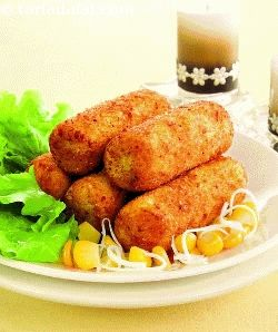 Aloo Cheese Croquettes ( Kebabs and Tikkis Recipes)