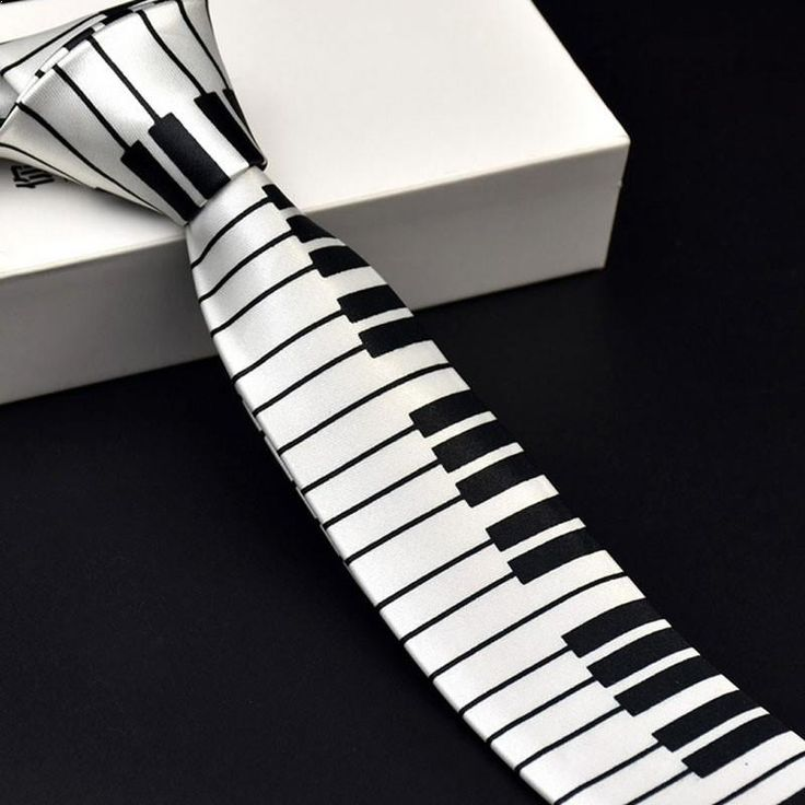 White Piano Necktie  New Men's Black and White Piano Keyboard Necktie Classic Neck Tie  $9.99free shipping  You save28%off the regular price of$13.99  Men's Black and White Piano Keyboard Necktie Tie Classic Thin Lean Music Tie  Description:  100% brand new and high quality  As a great gift for music lovers or funny accessory costume for parties  Classic style and fashion design.  Elegant and practical easy to match different outfits.  Material: Polyester Wire  Sex: men  Size: long 145 CM…
