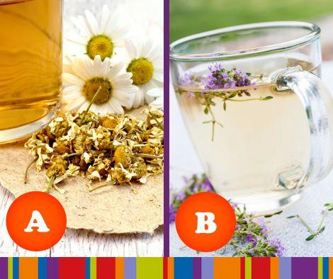 Tijdens de herfstdagen genieten we nog meer van een warme kop thee. En die is natuurlijk éxtra lekker met verse kruiden. Welke soort thee drink jij liever?  A. Kamillethee B. Lavendelthee