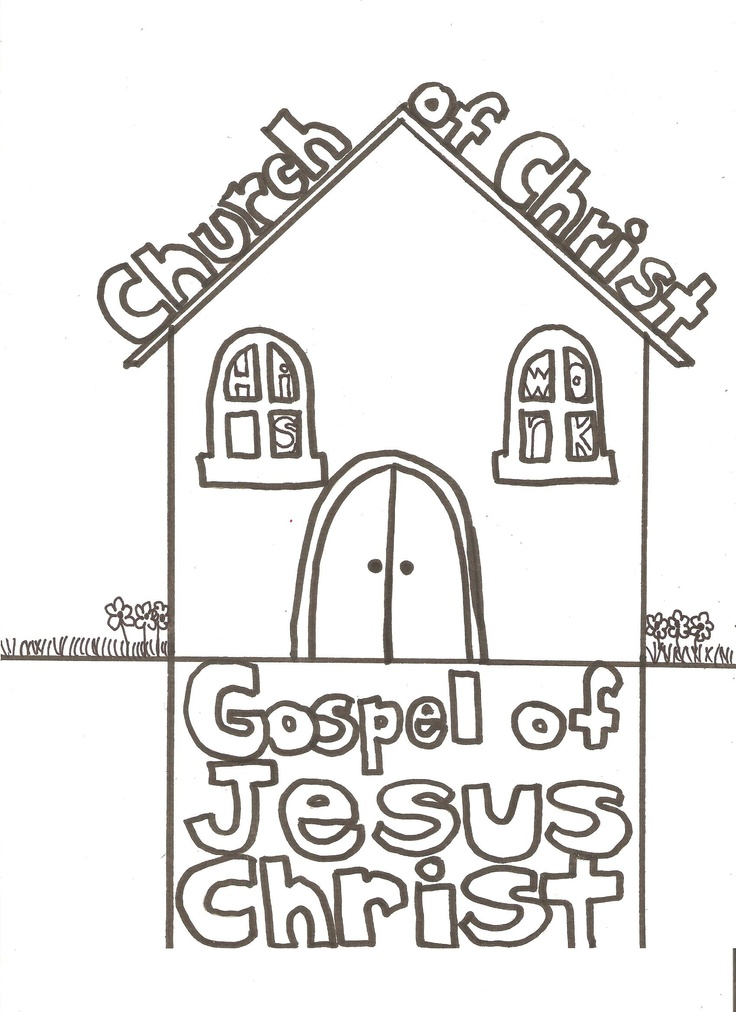 coloring pages church of christ - photo#1