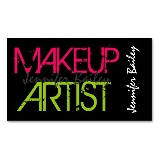 17 best makeup artist business cards images on pinterest business bold makeup artist business cards colourmoves