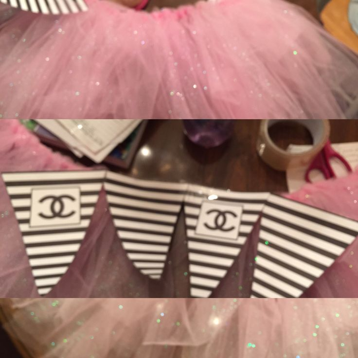 Coco Chanel Theme Baby Shower.. Tutu Skirt Made Then