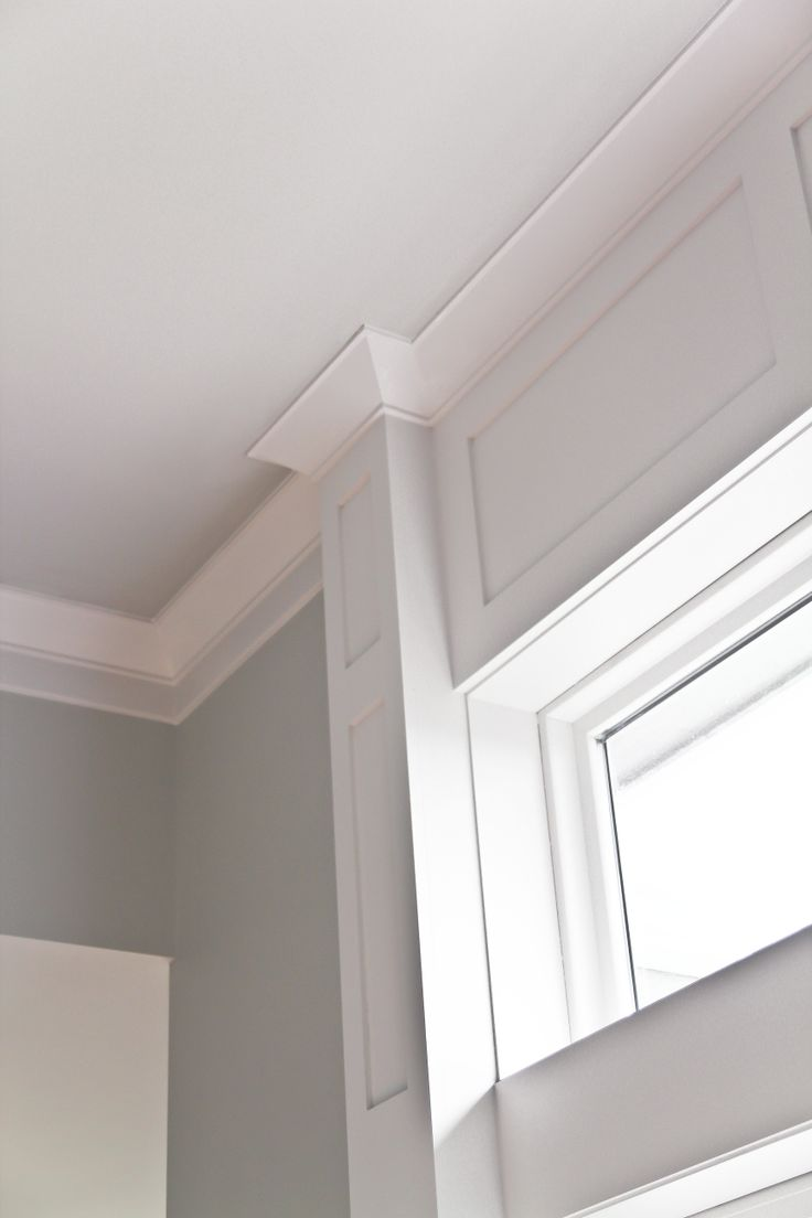 transom light over doorways, crown molding and millwork detailing for  dimension in this modern design