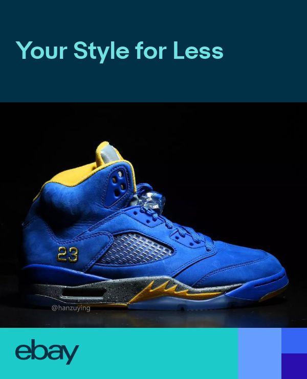 78d126eb504b NEW DS 2019 Nike Air Jordan Retro 5 V LANEY Varsity Royal BlueMaize  CD2720-400