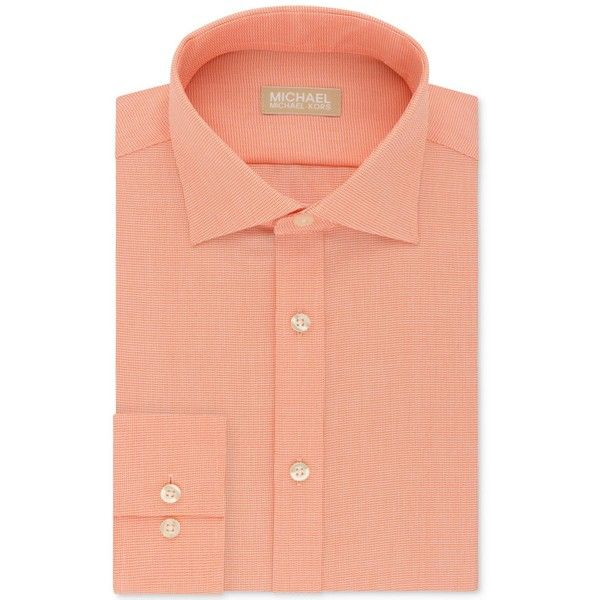 Michael Kors Men's Classic Fit Non-Iron Dress Shirt (€47) ❤ liked on Polyvore featuring men's fashion, men's clothing, men's shirts, men's dress shirts, orange, no iron mens shirts, mens orange dress shirt, non iron men's shirts, mens classic fit shirts and mens no iron dress shirts