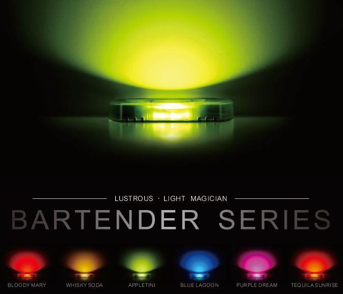 LUSTROUS Bartender Series.  Multi-Color interior lighting.  For more details, please contact sales@lustrous.com.tw