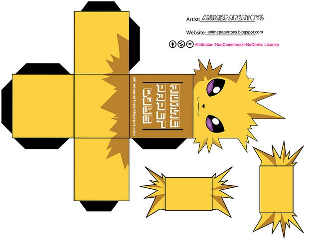 JOLTEON - POKEMON by animepapertoys, via Flickr