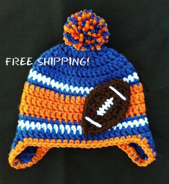 Florida Gators Football Crochet Winter Hat With Ear Flaps