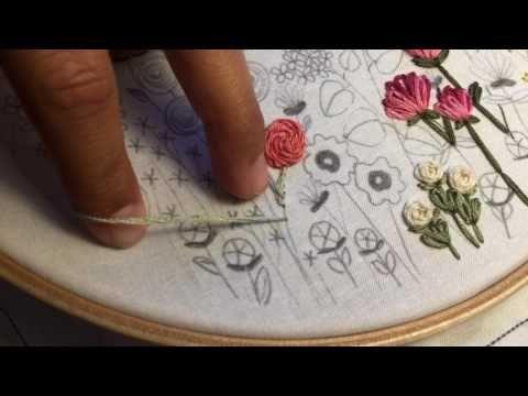Flower Stem, Stem Stitch Tutorial - YouTube