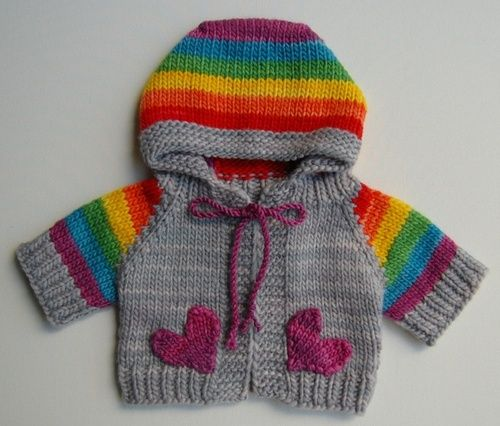 rainbow baby by Tomboy Knits