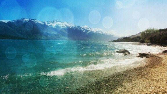 The top if Lake Wakatipu. Editted on Pixlr.