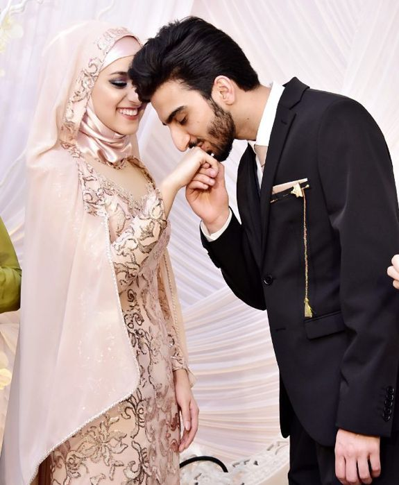 Husband wife Muslim couple