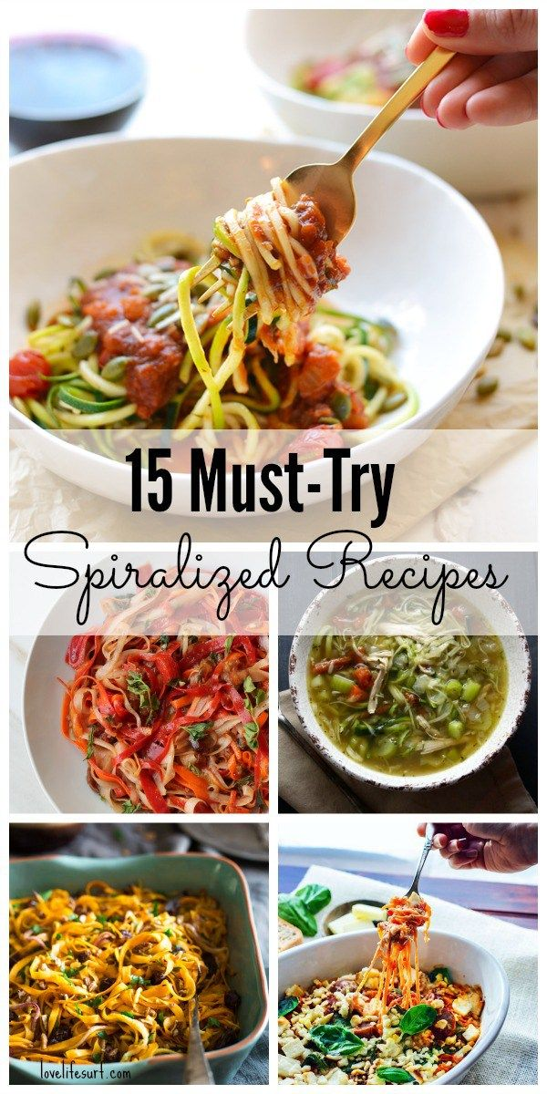 Spiralizer recipes are all the rage. These low-carb noodles make healthy, easy lunch and dinner meals - you won't even miss pasta! If you're gluten-free, paleo or grain-free, try one of these 15 must-make spiralizer recipes.