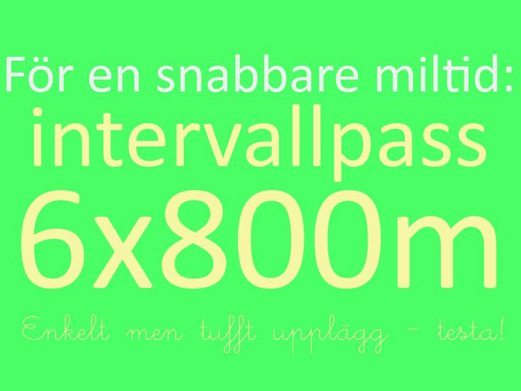 Intervallpass som gör dig snabbare: 800m intervaller!
