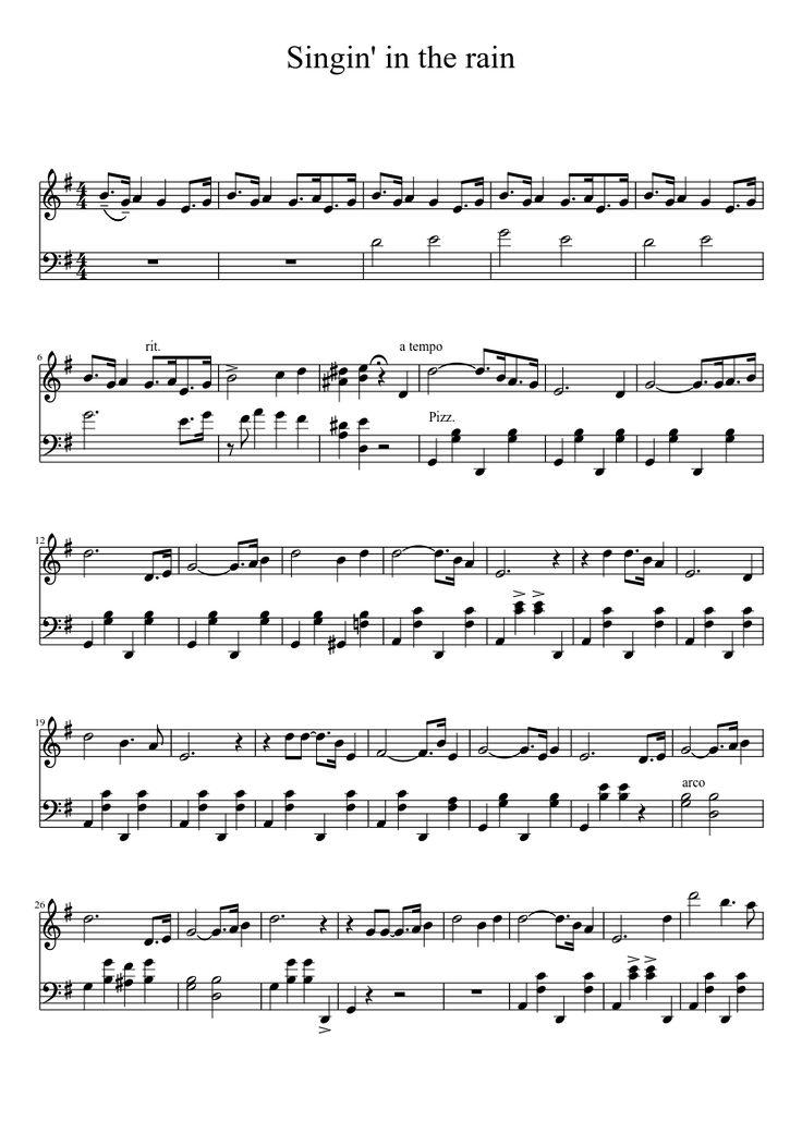 Singing in the rain | MuseScore
