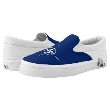#NATO Flag Slip-On Sneakers - #womens #shoes #womensshoes #custom #cool