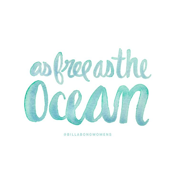 Our summer motto: Living as free as the ocean || Summertime vibes