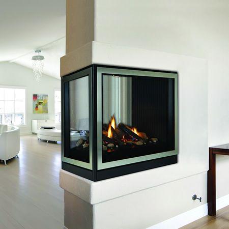 "Empire Premium Tahoe Peninsula Direct Vent Fireplace - 36"" | WoodlandDirect.com: Indoor Fireplaces: Gas #LearnShopEnjoy"