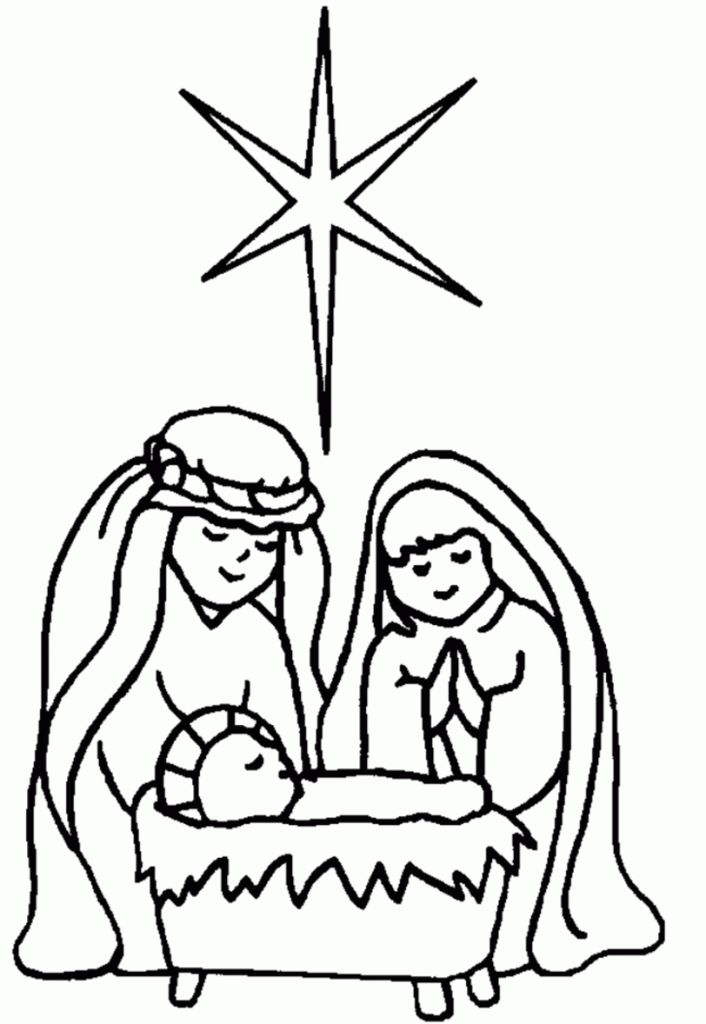 7 best coloring pages images on Pinterest Coloring book, Coloring - new simple nativity scene coloring pages
