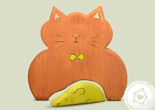 puzzle toys  - cat with mouse