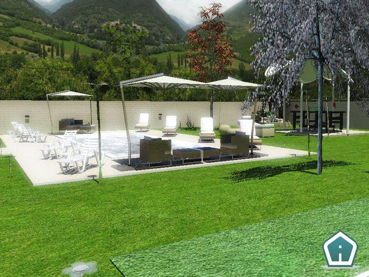 3d Garden Design - design and services: villa exterior rendering