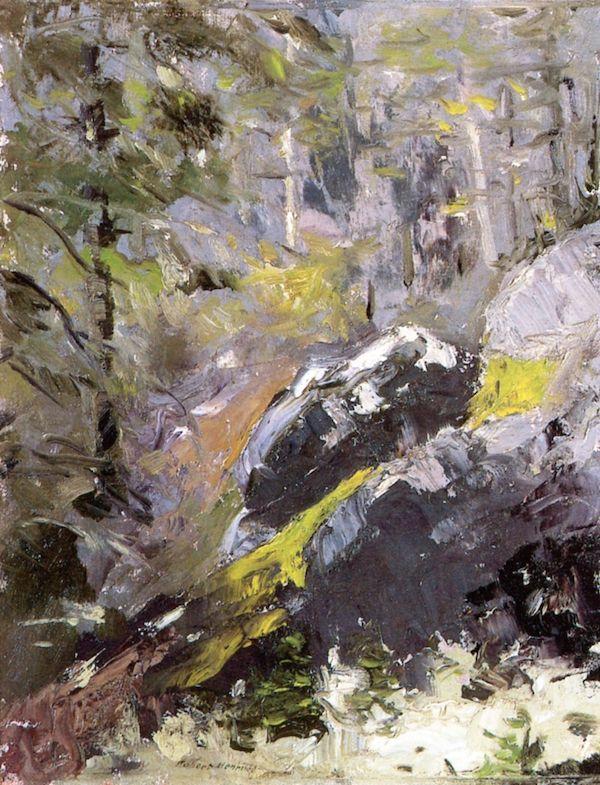 "huariqueje: ""  The Grey Woods - Robert Henri ,1911 American, 1865-1949 38.1 cm (15 in.) 29.85 cm (11.75 in.) """