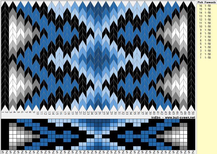 Bunad, Smykker, vev & rosemaling: Enkelt mønster til vev-brikker med 8 hull.