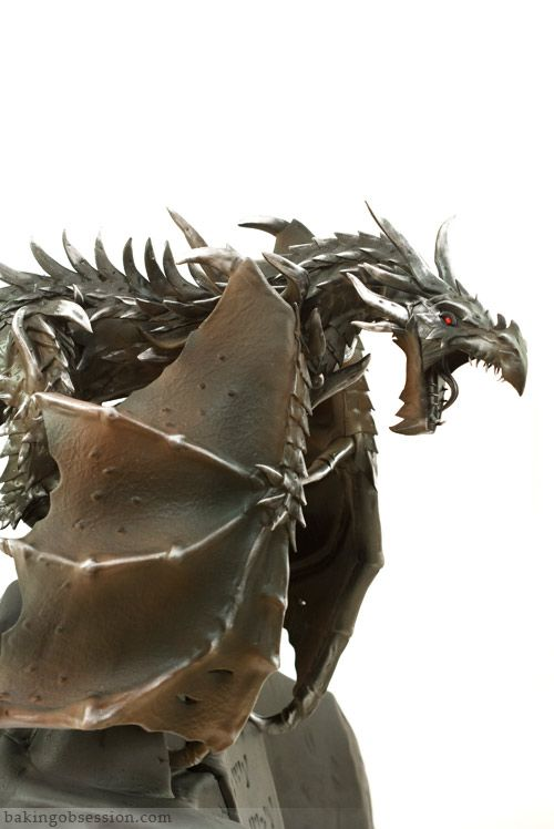 Alduin the World Eater Cake -- I just have to say, Charm City Cakes made an Alduin cake before and this cake blows the other OUT OF THE WATER.