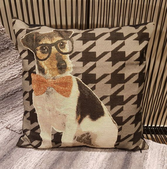 Check out this item in my Etsy shop https://www.etsy.com/au/listing/268360016/jack-russell-style-dog-cushion-cover-18