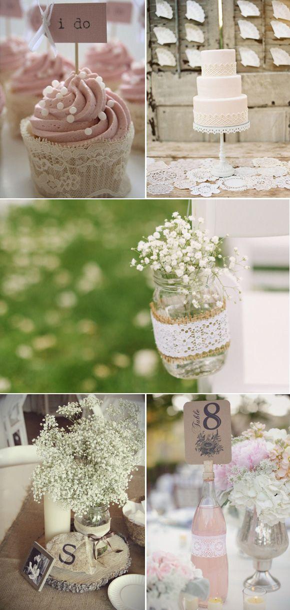 El encaje es uno de los elementos más importantes y románticos que podemos utilizar a la hora de decorar nuestra boda.