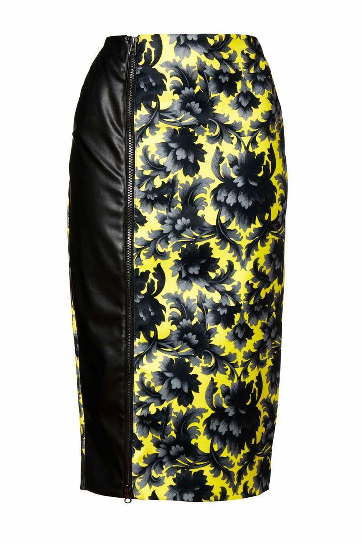Falda lápiz, de Asos #FlowerPrint