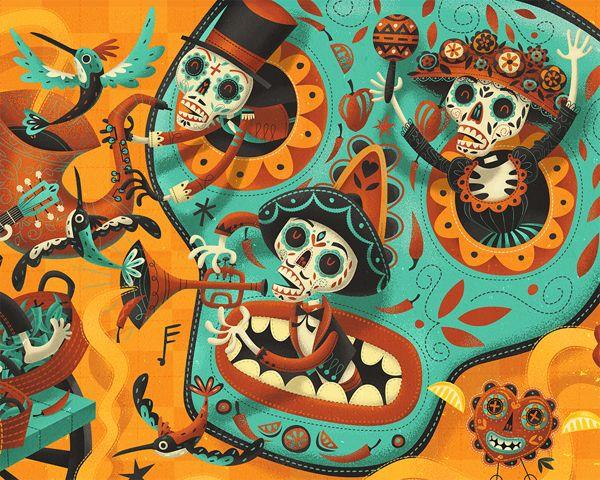 Olé.  TUZO - Mexican Kitchen by Steve Simpson, via Behance