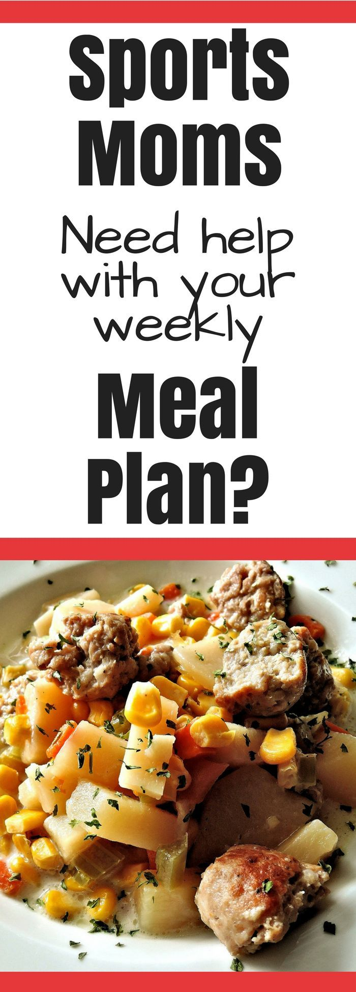 Sports Moms - do you need help with your weekly meal plan? We all need a little help with meal planning on those busy nights running from practice to game and back home and trying to fit in homework and dinner prep at the same time. Take a little pressure off yourself and use these pre-made meal plans sent right to your inbox every week! These meal plans include everything from the recipes to the list of ingredients. Your family will love them and thank you! #afflinks