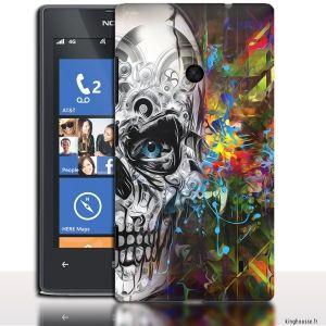 Coque telephone Nokia Lumia 520 Skull Paint - Coque  pour Smartphone Nokia 520 Lumia. #Lumia520 #Nokia #coquetelephone #Skull