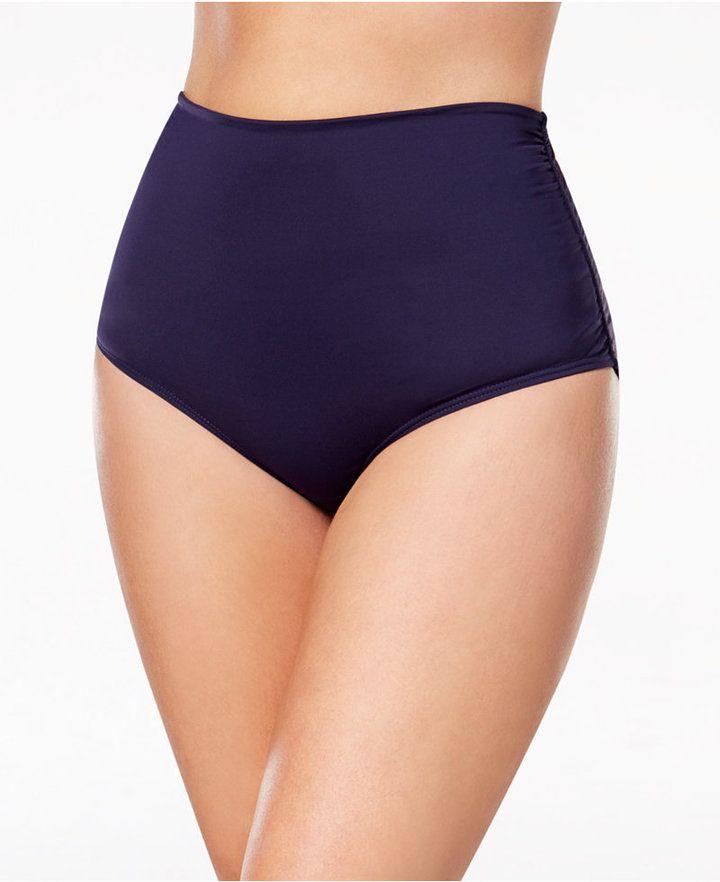 Anne Cole Plus Size High-Waist Bikini Bottoms Women's Swimsuit