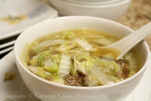 Chinese Cabbage Soup - good for getting rid of Candida overgrowth