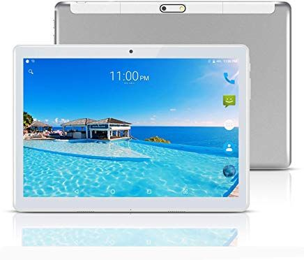 Tableta 10a Zoll 2565 Cm 101 Tablets Pc Android 7 0 3ghd Wifigpsgsmocta Coredual Sim Card 64gb4gb1920x1200 Ips Silber E Tablet Bluetooth Gps Android Tablets