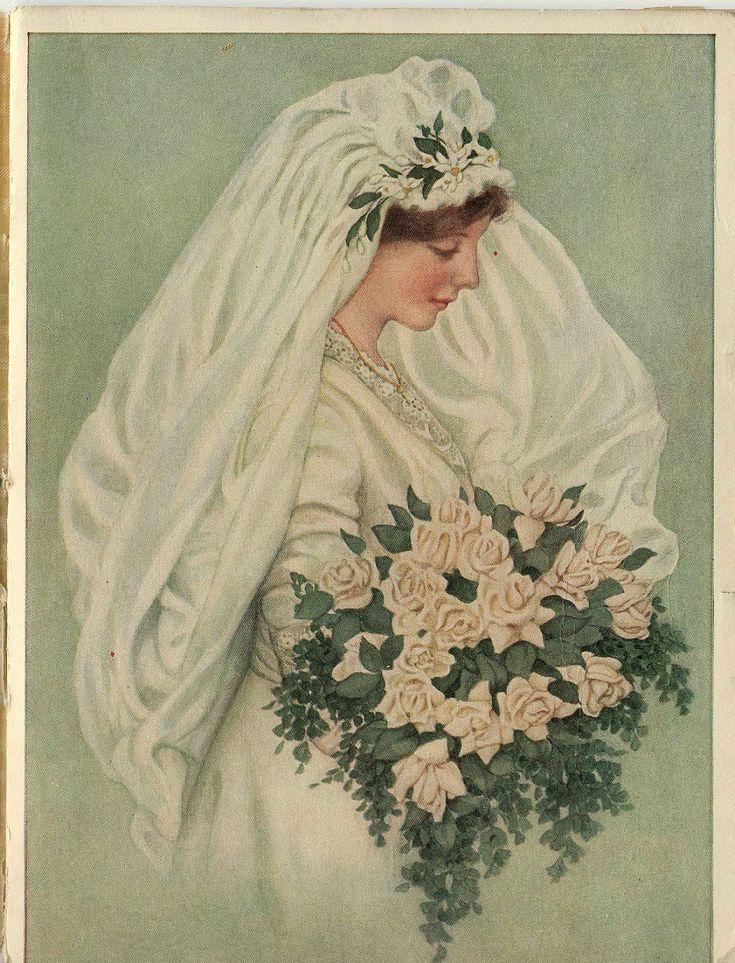 Винтажные свадебные открытки. Комментарии : LiveInternet - Российский Сервис Онлайн-Дневников