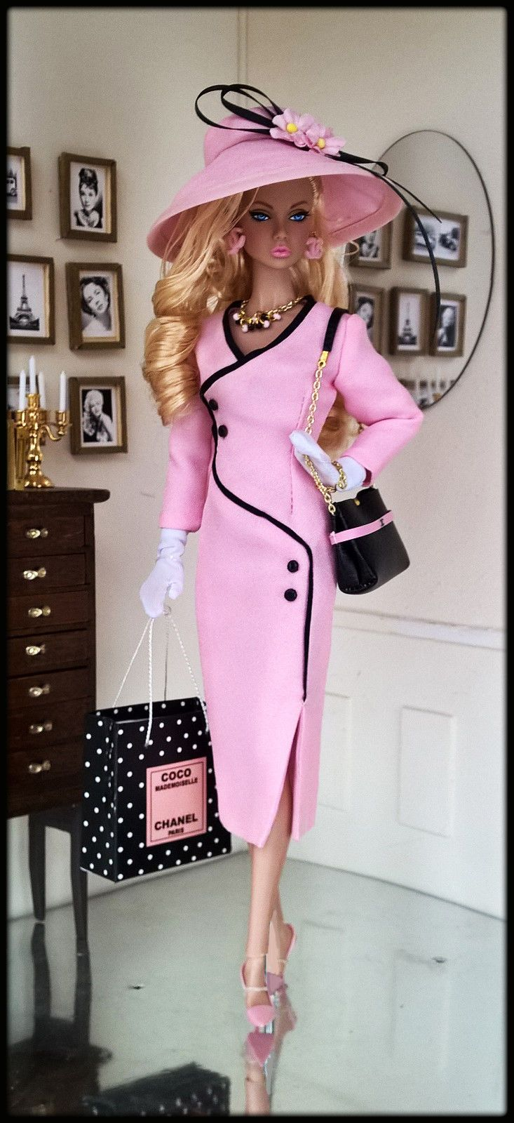 """OOAK Fashions for Silkstone / 12"""" Fashion Royalty / Vintage barbie - With Zipper"""