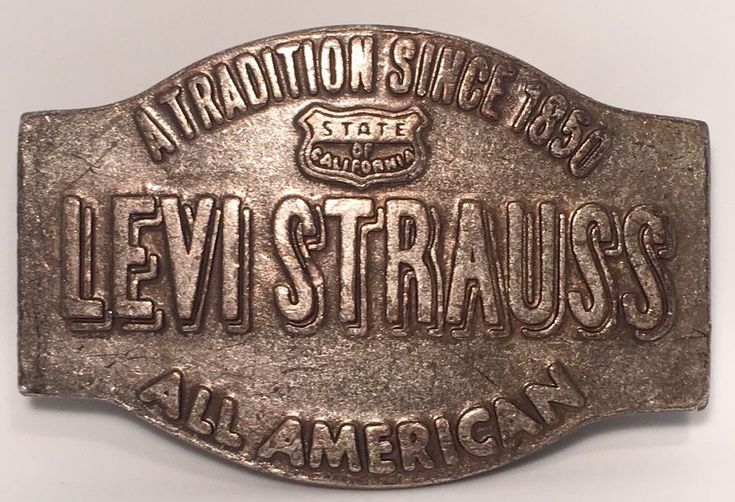 RARE Levi Strauss California Vintage Belt Buckle By Bergomot Brass Works  | eBay