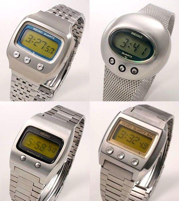 Vintage Seiko LCD watches