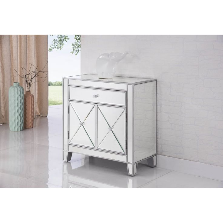 Contempo 1 drawer 2 door accent cabinet 12241 for Baroque 2 door accent cabinet