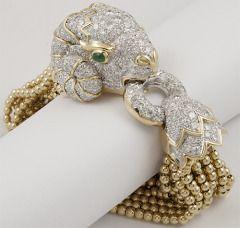 DAVID WEBB Diamond  Emerald Bracelet thumbnail 2