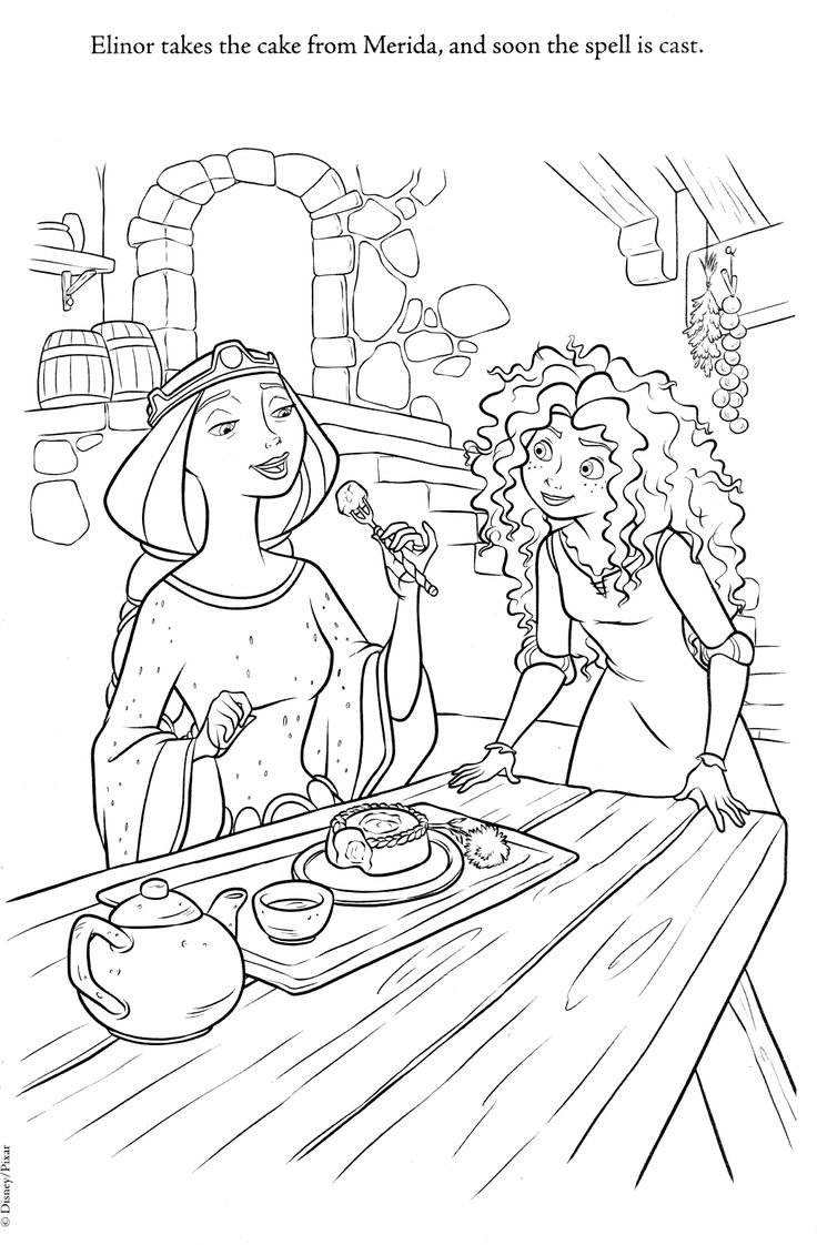 Disney princess birthday coloring pages - Brave And Other Disney Coloring Pages