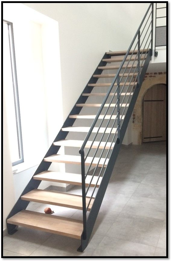 Escalier En Metal Avec Marche En Bois Escalier Design