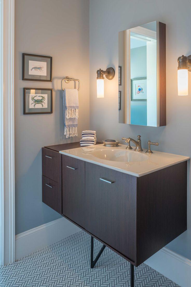 powder room with benjamin moore 39 s aura bath spa matte. Black Bedroom Furniture Sets. Home Design Ideas