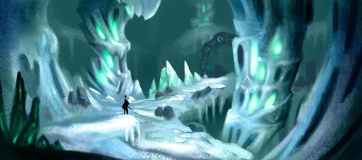 Ice Caves Enviroment for our indie game Fort Triumph